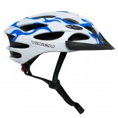 casco vision  w628 celeste blanco  unisize regulable adult b
